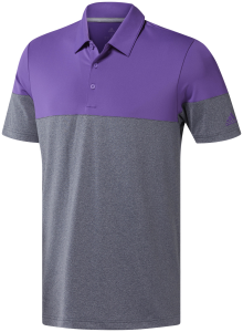 adidas Ultimate365 Heather Blocked Polo - Men's
