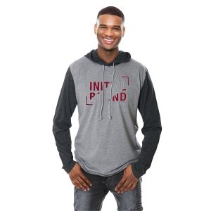 Initial Unisex Hooded Long Sleeve T-Shirt