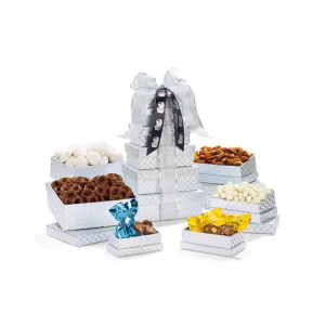 Shimmering Sweets & Snacks Gourmet Tower